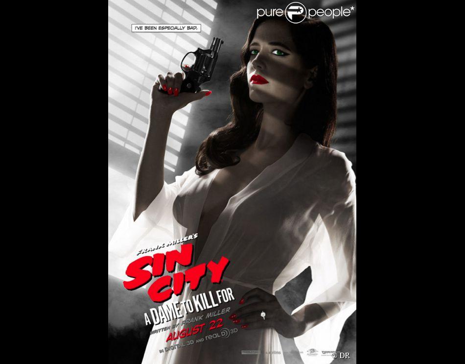 Affiche censurée du film Sin City - J'ai tué pour elle avec Eva Green