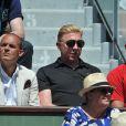 Boris Becker aux Internationaux de France de tennis de Roland Garros à Paris, le 6 juin 2014