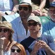 Ary Abittan, Pierre Richard, Laura Smet et son nouveau compagnon aux Internationaux de France de tennis de Roland Garros à Paris, le 6 juin 2014