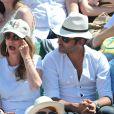 Ary Abittan aux Internationaux de France de tennis de Roland Garros à Paris, le 6 juin 2014