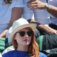 Elodie Frégé aux Internationaux de France de tennis de Roland Garros à Paris, le 6 juin 2014