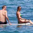 Peter Crouch et sa femme Abbey Clancy en vacances à Hawaii, le 6 juin 2014.