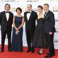 William Fichtner, Rola Bauer, le prince Albert II de Monaco, Megan Boone et Diego Klattenhoff - Cérémonie de clôture du 54e Festival de télévision de Monte-Carlo à Monaco. Le 11 juin 2014.