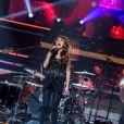 """Exclusif - Zaz lors de l'enregistrement de l'émission """"Ce soir on chante les tubes 2013"""" diffusée le 3 janvier 2014 sur TF1."""