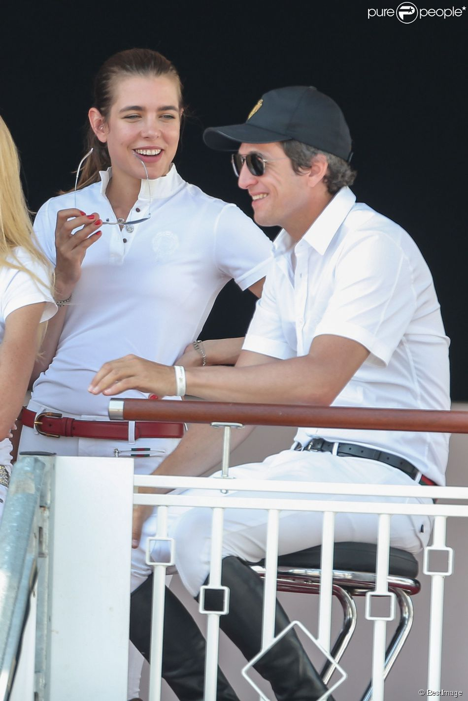 Guillaume Canet et Charlotte Casiraghi - Jumping International de Cannes le 12 Juin 2014  Cannes International Jumping contest on 12/06/201412/06/2014 - Cannes