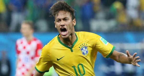 Neymar lors du match d 39 ouverture de la coupe du monde - Match d ouverture coupe du monde 2014 ...