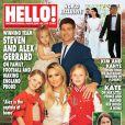 Steven, Alex Gerrard et leurs filles Lourdes, Lexie et Lilly-Ella, en couverture du nouveau numéro d'Hello! en juin 2014