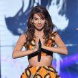 """Exclusif - La chanteuse Tal - Scène - Enregistrement de l'émission """"La Chanson de l'année"""" au Zénith de Paris, le 13 juin 2014."""
