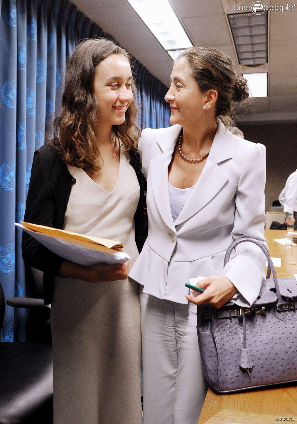 Ingrid Betancourt et sa fille Mélanie à New York, le 9 septembre 2008.
