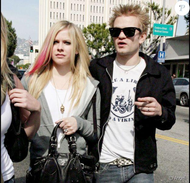 Deryck Whibley et Avril Lavigne, à Los Angeles, le 18 février 2008.