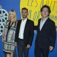 Léa Drucker, Xavier Legrand et Guillaume Galienne - Dîner de Gala du Panorama des Nuits en Or à l'UNESCO à Paris le 16 juin 2014.