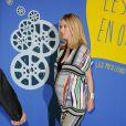 Léa Drucker enceinte (robe Diane von Furstenberg) - Dîner de Gala du Panorama des Nuits en Or à l'UNESCO à Paris le 16 juin 2014.