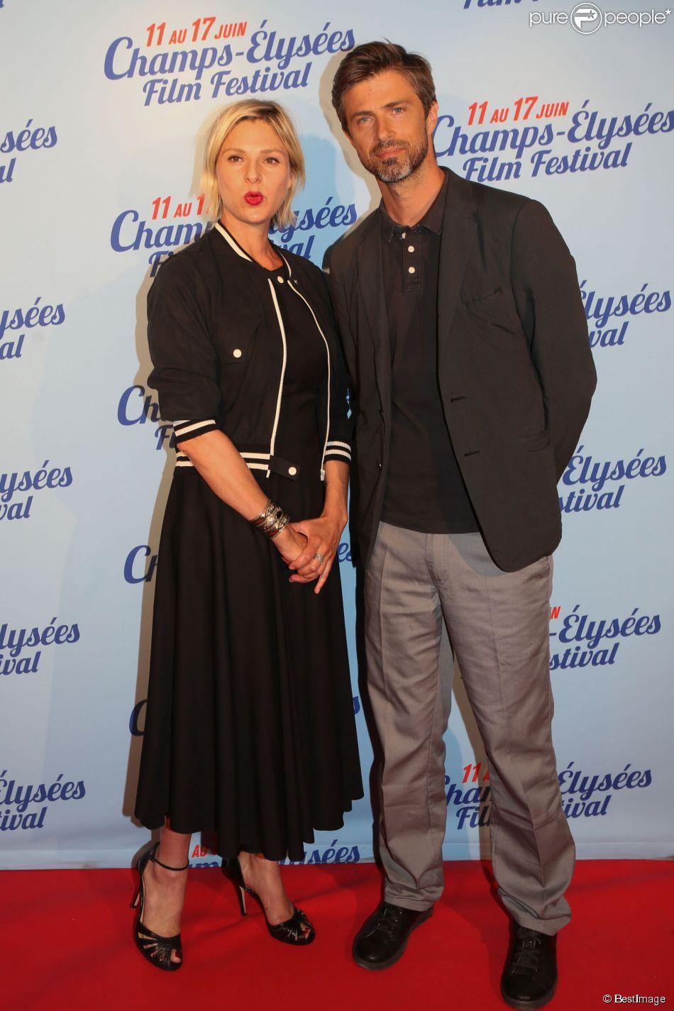 """Exclusif - Sophie Cattani et Kim Rossi Stuart lors de l'avant-première du film """"L'ex de ma vie"""" lors du 3e Champs-Elysées Film Festival à l'UGC George V à Paris, le 17 juin 2014."""