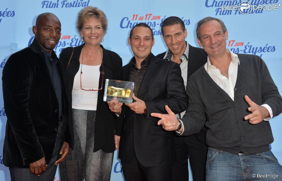 Exclusif - Sophie Dulac (présidente du festival), Emmanuel Fricero (le Prix du Public du court-métrage français) lors de la cérémonie de clôture du 3e Champs-Elysées Film Festival au Publicis à Paris, le 17 juin 2014.