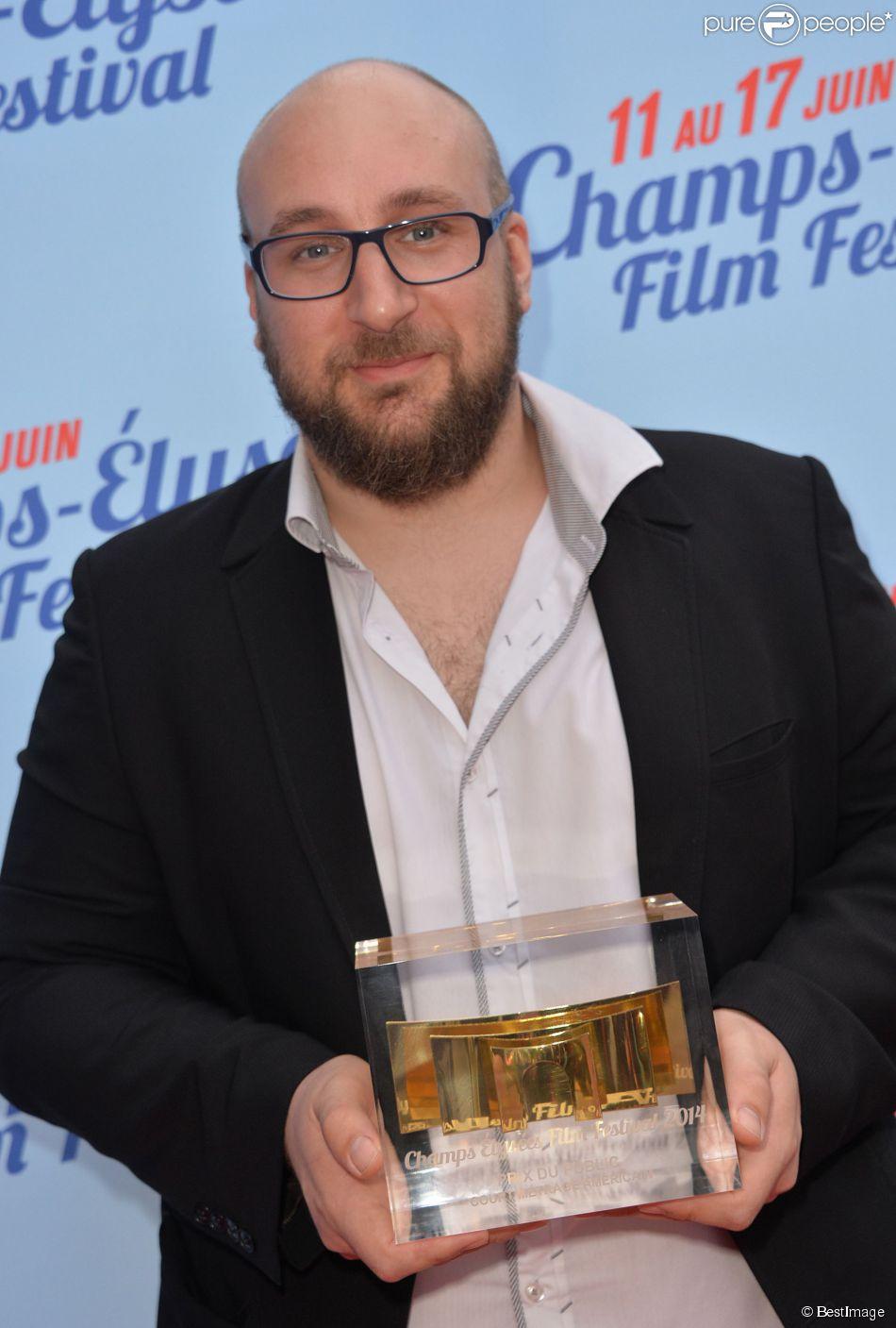 Exclusif - Golan Ramras (le Prix du Public du court-métrage américain) lors de la cérémonie de clôture du 3e Champs-Elysées Film Festival au Publicis à Paris, le 17 juin 2014.
