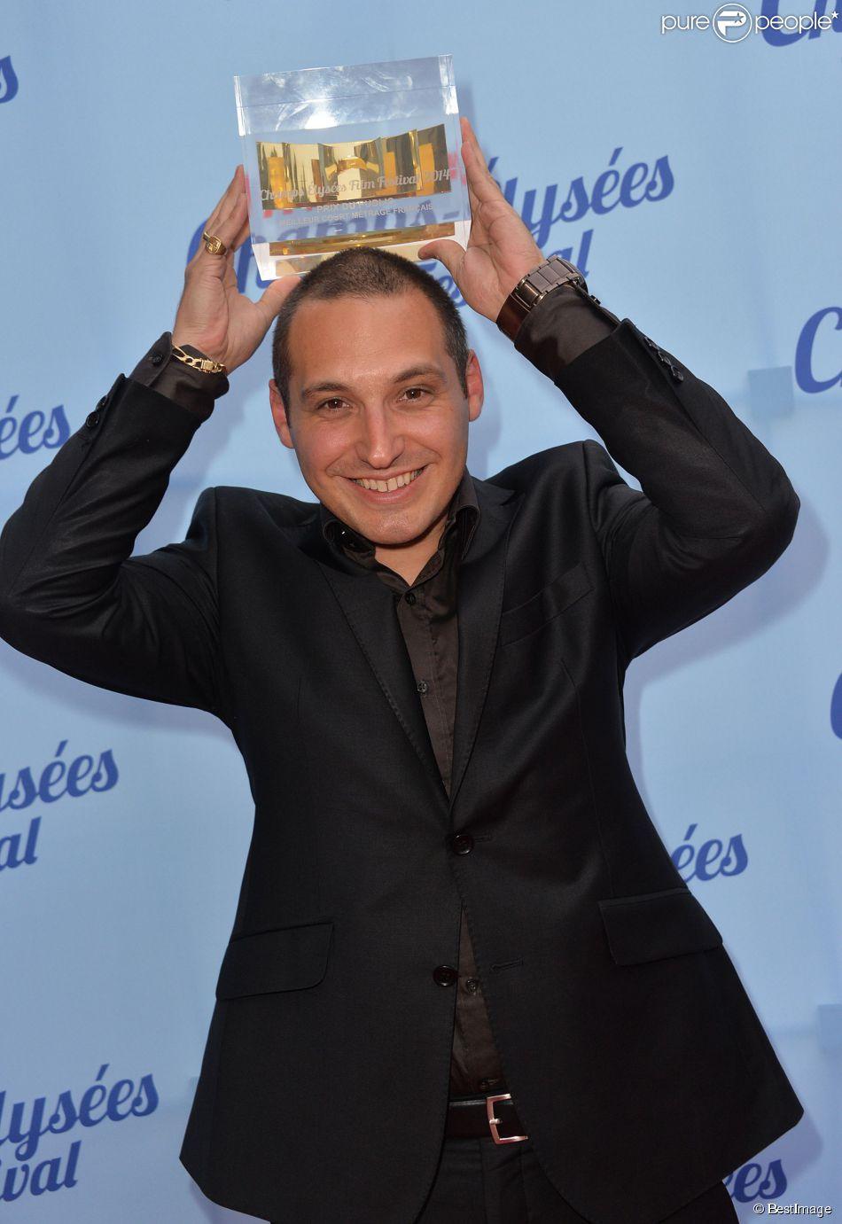 Exclusif - Emmanuel Fricero (le Prix du Public du court-métrage français) lors de la cérémonie de clôture du 3e Champs-Elysées Film Festival au Publicis à Paris, le 17 juin 2014.