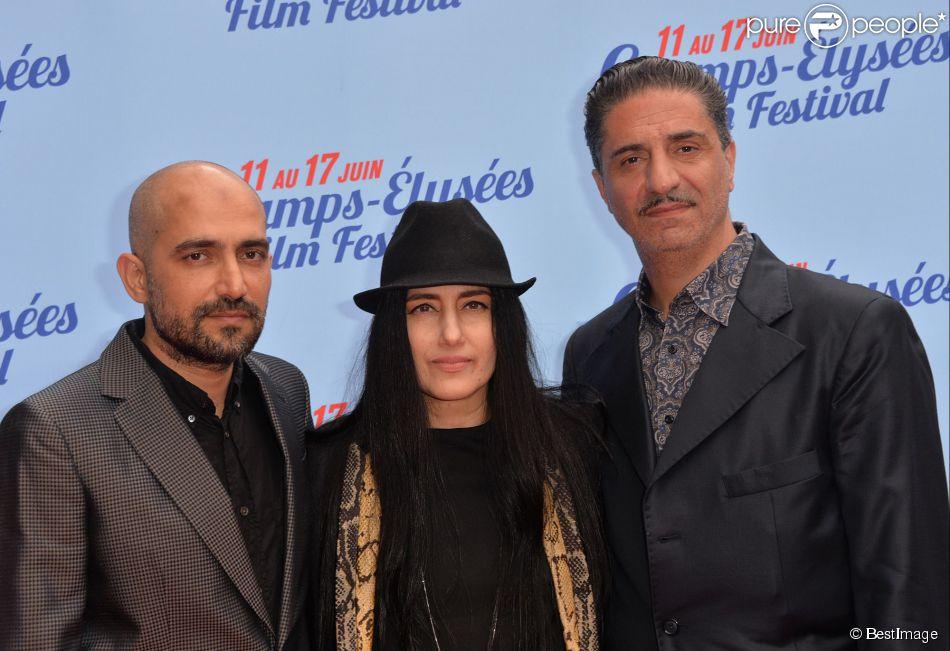 """Shlomi Elkabetz, Ronit Elkabetz et Simon Abkarian - Avant-première du film """"Le procès de Viviane Amsalem"""" lors du 3e Champs-Elysées Film Festival à Paris, le 17 juin 2014."""