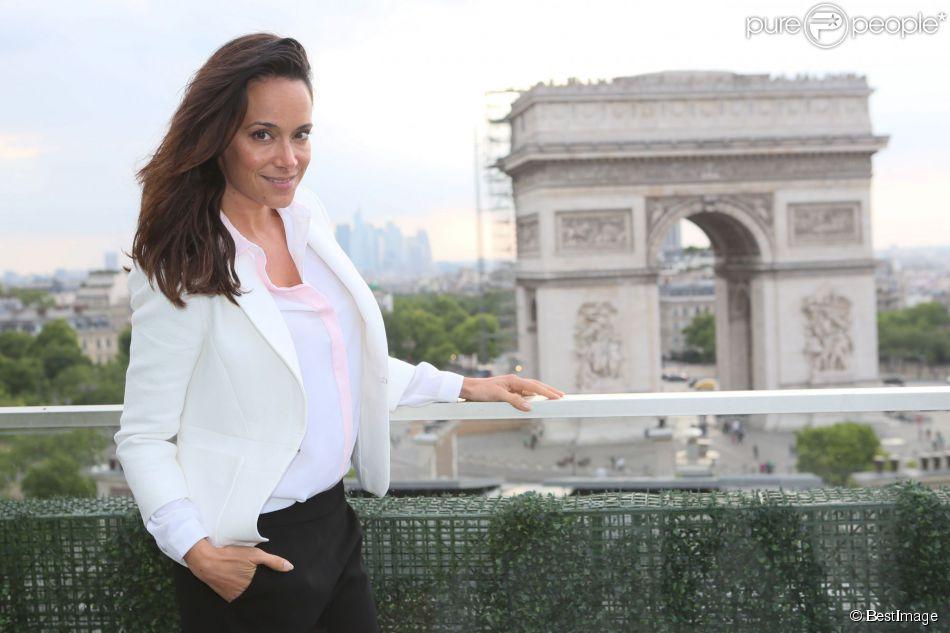 Exclusif - Karine Lima - Cocktail sur la terrasse du Publicis lors du 3e Champs-Elysées Film Festival à Paris, le 17 juin 2014.