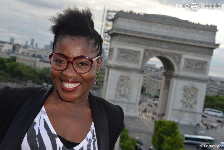 """Exclusif - Claudia Tagbo - Les acteurs et les invités du film """"Bon rétablissement !"""" sur la terrasse du Publicis et à l'avant-première du film lors du 3e Champs-Elysées Film Festival à Paris, le 16 juin 2014."""