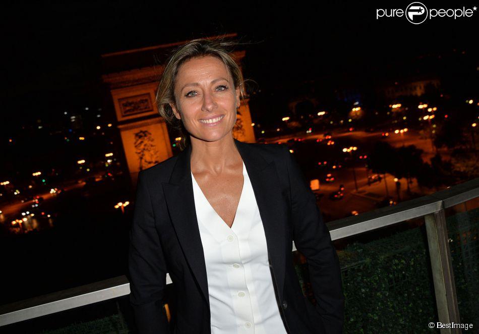 """Exclusif - Anne-Sophie Lapix - Les acteurs et les invités du film """"Bon rétablissement !"""" sur la terrasse du Publicis et à l'avant-première du film lors du 3e Champs-Elysées Film Festival à Paris, le 16 juin 2014."""