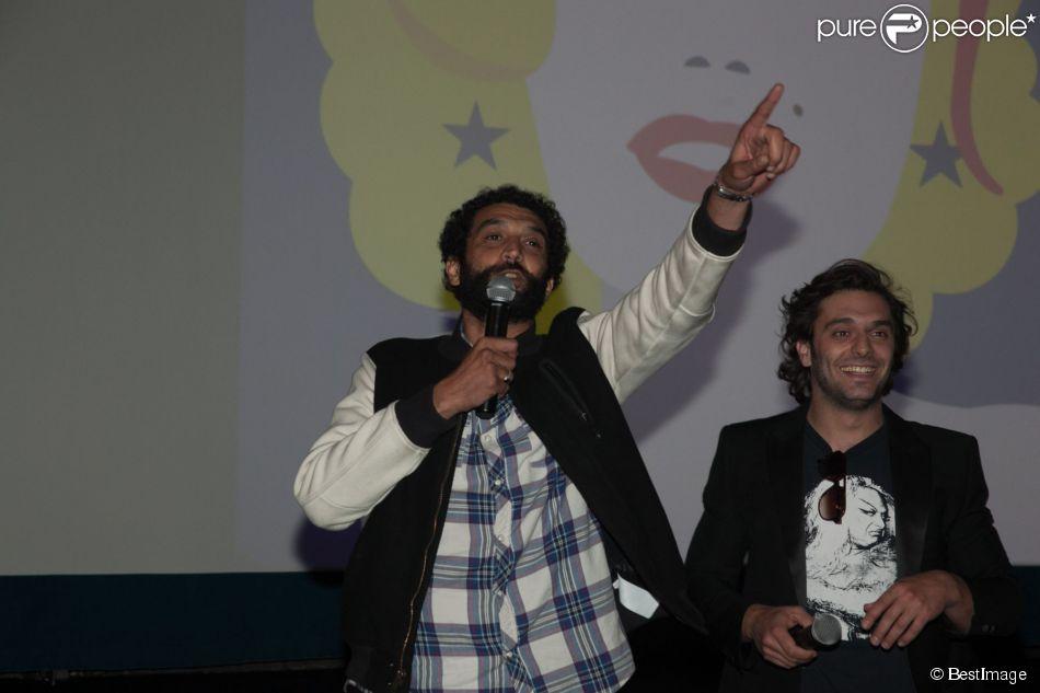 """Exclusif - Ramzy Bédia et Pio Marmaï - Avant-première du film """"Des Lendemains qui chantent"""" lors du Champs-Elysees Film Festival à Paris, le 16 juin 2014."""