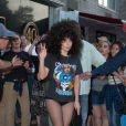 Lady Gaga quitte un salon de tatouage à New York, le 18 juin 2014.