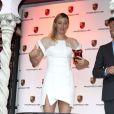 """Maria Sharapova lors de la soirée """"WTA Pré-Wimbledon"""" à Londres le 19 juin 2014 aux Roof Gardens de Kensington"""
