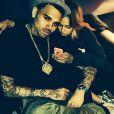 Chris Brown et Karrueche Tran. Photo postée le 19 juin 2014.