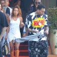 Exclusif - Chris Brown et Karrueche Tran quittent l'hôtel SLS à Beverly Hills. Le 20 juin 2014.