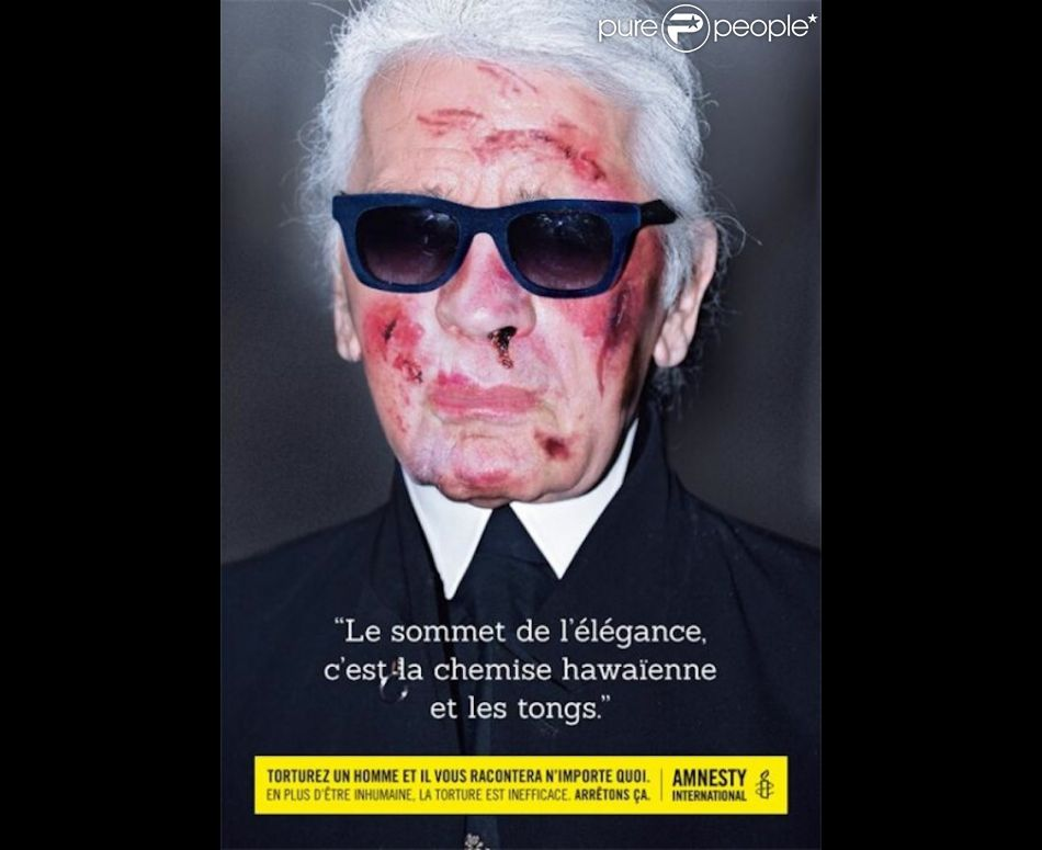 Karl Lagerfeld pour Amnesty International