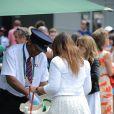 Marion Bartoli, lors de son arrivée à Wimbledon, le 24 juillet 2014