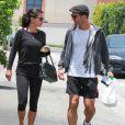 Courteney Cox et son compagnon Johnny McDaid vont déjeuner au restaurant La Scala à Beverly Hills, le 25 juin 2014.