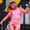 Lily Allen sur la scène du festival de Glastonbury, le vendredi 27 juin 2014.