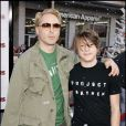 Robert Downey Jr. et son fils Indio à Hollywood, le 3 novembre 2007.