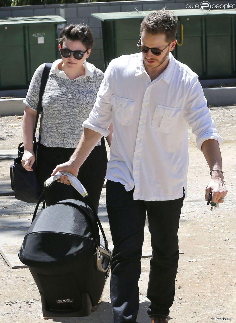Ginnifer Goodwin s'est offert une sortie avec son mari Josh Dallas et leur bébé Oliver, à une fête d'anniversaire à Los Angeles, le 29 juin 2014.