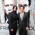 """Weston Cage et son père Nicolas Cage à la première du film de """"The Frozen Ground"""", à Londres le 17 juillet 2013."""