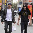 Nicolas Cage et son fils Weston à New York, le 7 avril 2009.