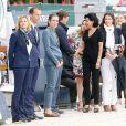 Rachida Dati, Christophe Bonnat, Virginie Coupérie-Eiffel et Charlotte Casiraghi - Troisième et dernier jour du Paris Eiffel Jumping présenté par Gucci, septième étape du Longines Global Champions Tour, à Paris le 6 juillet 2014.