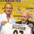 David Beckham et Alfredo Di Stéfano le 2 juillet 2003.