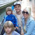 Mauro Icardi et Wanda Nara avec ses enfants en week-end à Venise - avril 2014