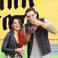 Shenae Grimes et Josh Beech à la soirée Just Jared Summer Party au Pink Taco à West Hollywood, le 12 juillet 2014.
