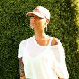 Amber Rose à la soirée Just Jared Summer Party au Pink Taco à West Hollywood, le 12 juillet 2014.