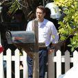 """Ryan Reynolds sur le tournage du film """"Woman in Gold"""" à Culver City, le 16 juillet 2014."""