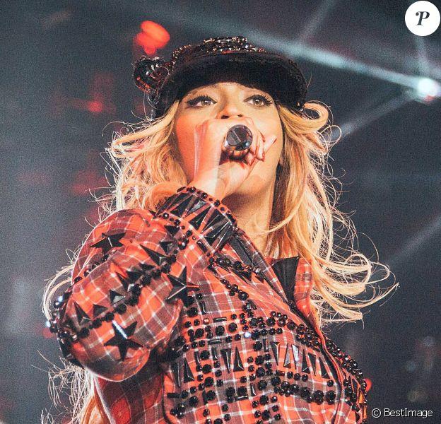 Beyoncé en concert à Barcelone en Espagne, le 24 mars 2014.