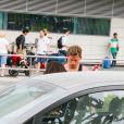 Jan Vertonghen est allé chercher sa compagne à l'aéroport d'Ibiza, le 19 juillet 2014