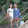 Lana Del Rey avec le beau Francesco Carrozzini à Portofino, le 1er juillet 2014