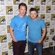 Benedict Cumberbatch, Andy Serkis au panel du film Le Hobbit : La Bataille des Cinq Armées au Comic-Con de San Diego, le 26 juillet2014.