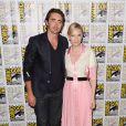 Lee Pace et Cate Blanchett au panel du film Le Hobbit : La Bataille des Cinq Armées au Comic-Con de San Diego, le 26 juillet2014.