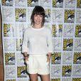 Evangeline Lilly au panel du film Le Hobbit : La Bataille des Cinq Armées au Comic-Con de San Diego, le 26 juillet2014.