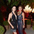 Exclu - Hofit Golan et Emma Miller lors de la grande fête d'anniversaire de Monika Bacardi organisée à Saint-Tropez, le 27 juillet 2014.